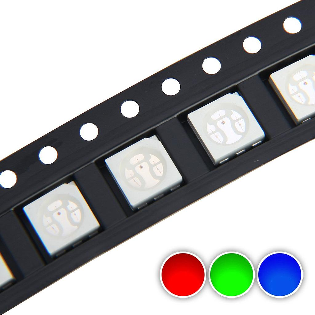 5050 SMD LED Diode Lights Chips Emitting White/Red/Green/Blue/Yellow/Purple/Pink
