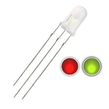 5mm Red & Blue/Green LED Diode Lights Bicolor Common Cathode Diffused Round