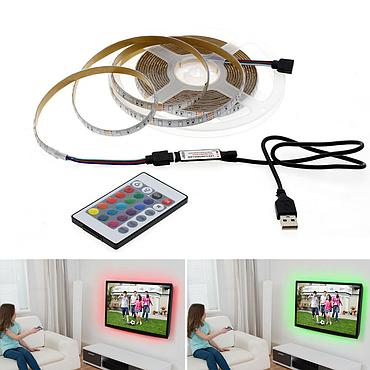 5V 2835 SMD USB LED Strip TV Background Lighting Decoracion Fairy Lights Emitting Warm White / White / RGB
