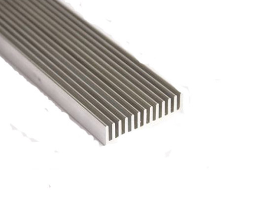 600*44*11mm Rectangular Aluminum Heatsink Grating Plate Type