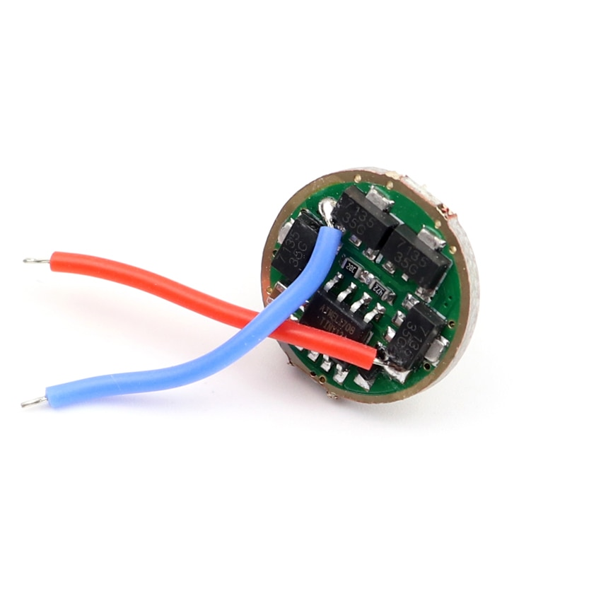 7135 x 8/6 /4 /3 Chip 17mm Driver Board Circuit Board for T6/U2/XML2/XPL LED 18650 flashlight with Mode Memory