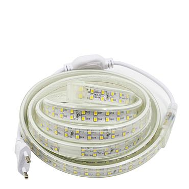 AC 220V 2835 SMD LED Flexible Strip 180LEDs/m Double Row Emitting White/Warm White/Neutral White