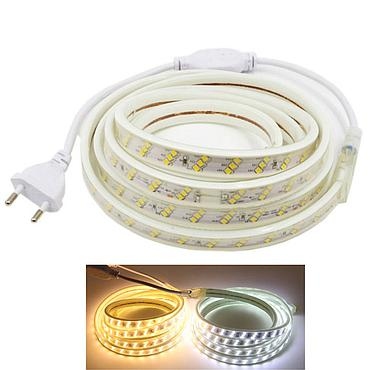 AC 220V 2835 SMD LED Flexible Strip 180LEDs/m Three Row Emitting White/Warm White/Netural White