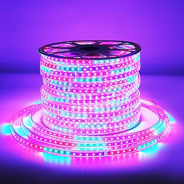 AC 220V 5050 SMD LED Flexible Strip 60LEDs/m Emitting RGB Colorful Flash