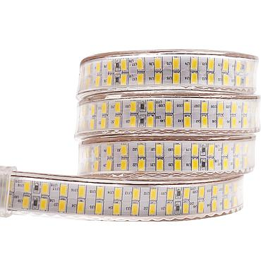 AC 220V 5730 SMD Double Row LED Flexible Strip 240LEDs/m Emitting White/Warm White/Blue