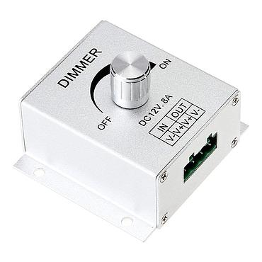 PWM Dimming Controller For LED Lights 12V 8A LED Dimmer Aluminium Case