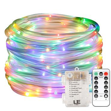 Battery Powered LED Fairy Light String Copper Wire 5/10M 8 Modes