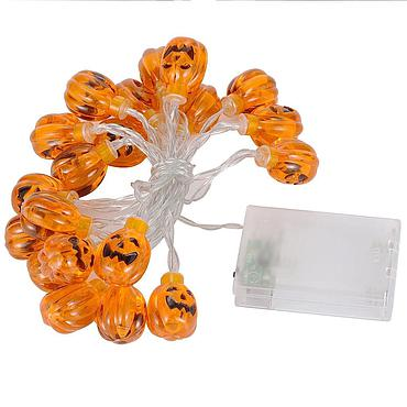 Battery Powered LED Halloween Pumpkin Light String 1.5M/2M/3M/4M/5M
