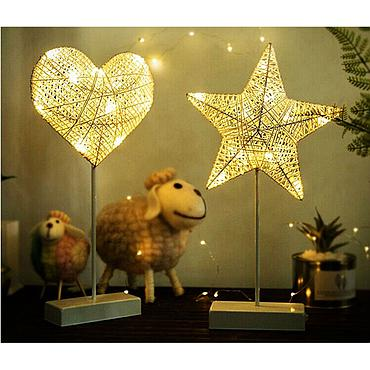 Battery Powered LED Heart/Star Novelty Fairy Light