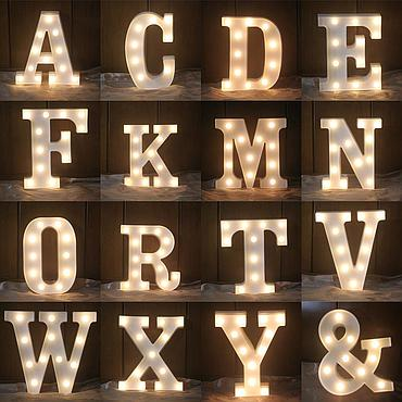 Battery Powered LED Letter/Numeric Shape Novelty Fairy Light