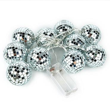 Battery Powered LED Mirror Ball Light String 1.5M/2.2M/3M