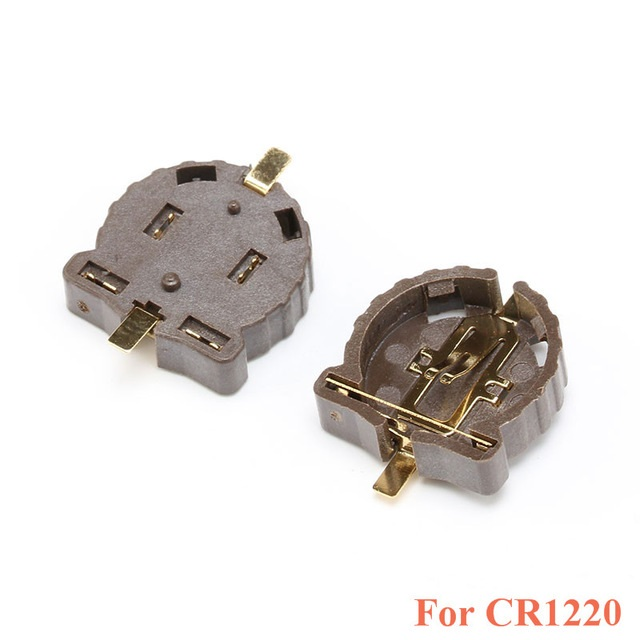 CR1220 Button Battery Holder 3V SMD Package Plating Temperature