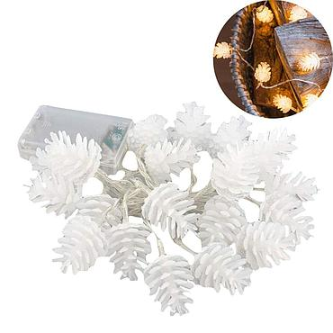 Battery Powered LED Pinecone Shape Light String 1.5M/2.2M/3M/5M