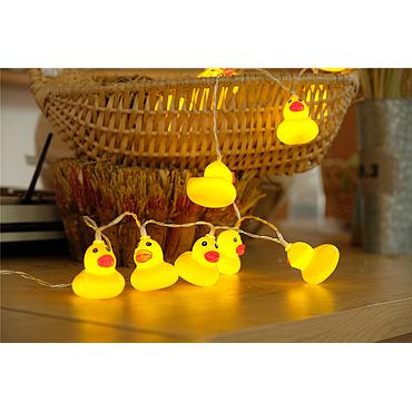 Battery Powered LED Small Yellow Duck Light String 1.5M/2M/3M