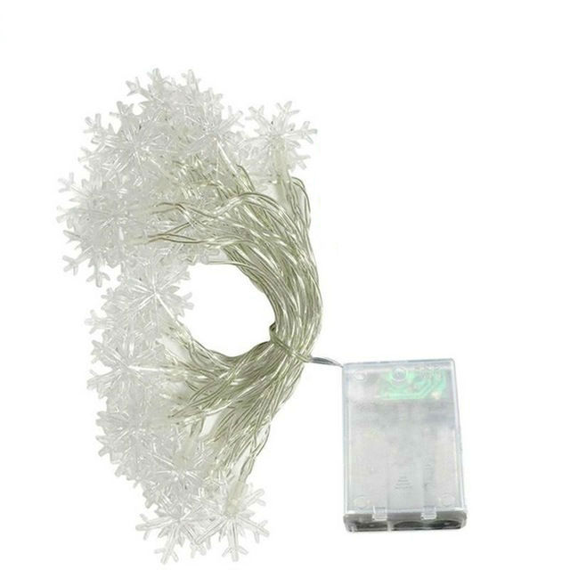 Battery Powered LED Snowflake Light String 1M/2M/3M/5M