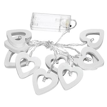 Battery Powered LED Wooden Heart Shape Light String 1.5/2.2/3M