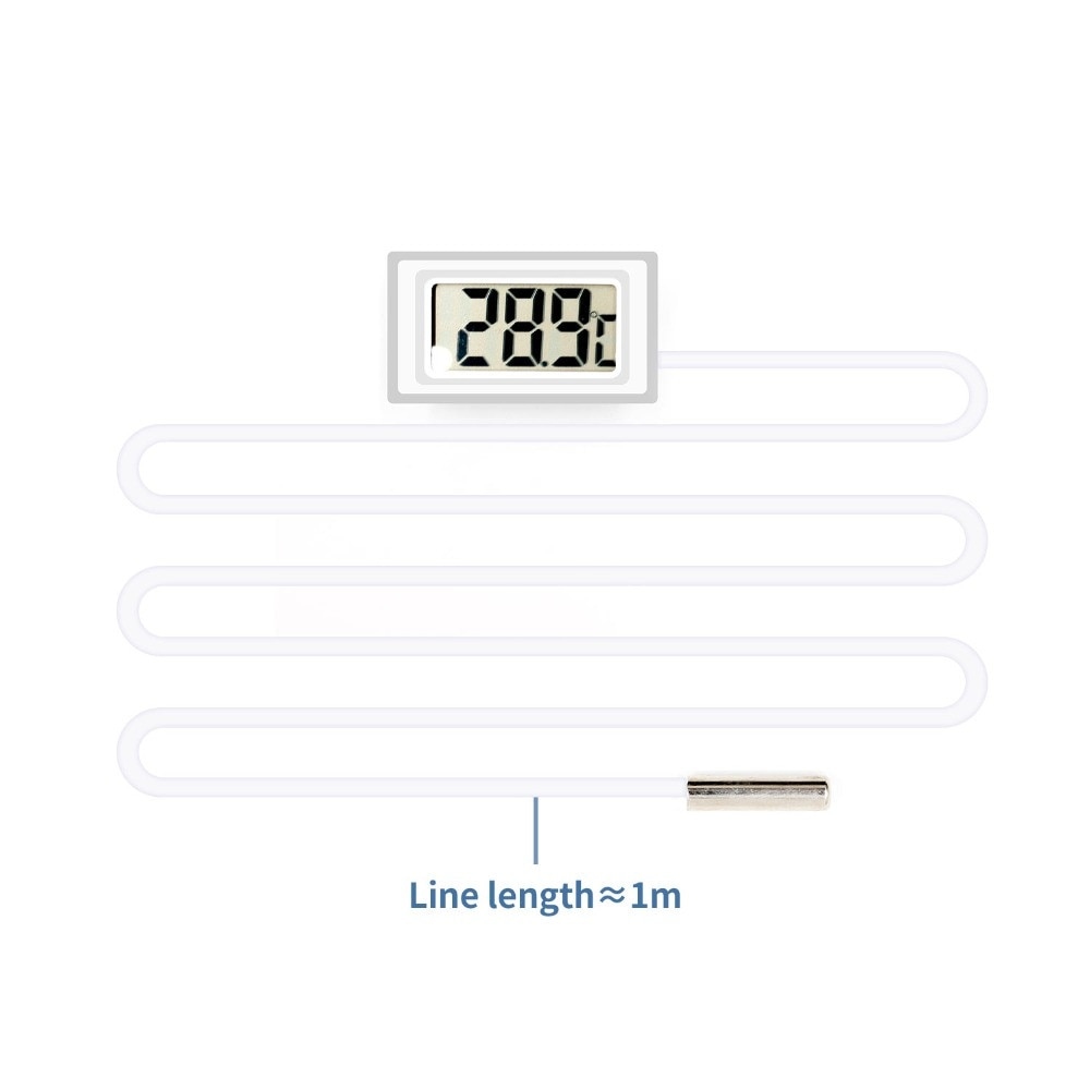 Digital Thermometer Fridge Freezer Temperature Meter White