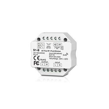S1-B AC100-240V RF 2.4G Triac Dimmer Wifi Push Switch Dimming Control for LED Lamp