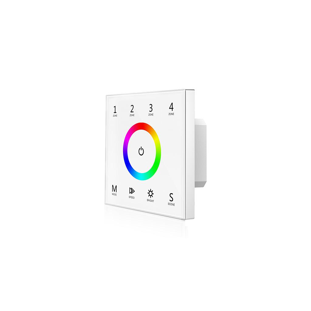 T13 AC85-265V RF2.4G RGB 4 Zones Touch Panel Controller for LED Lamp