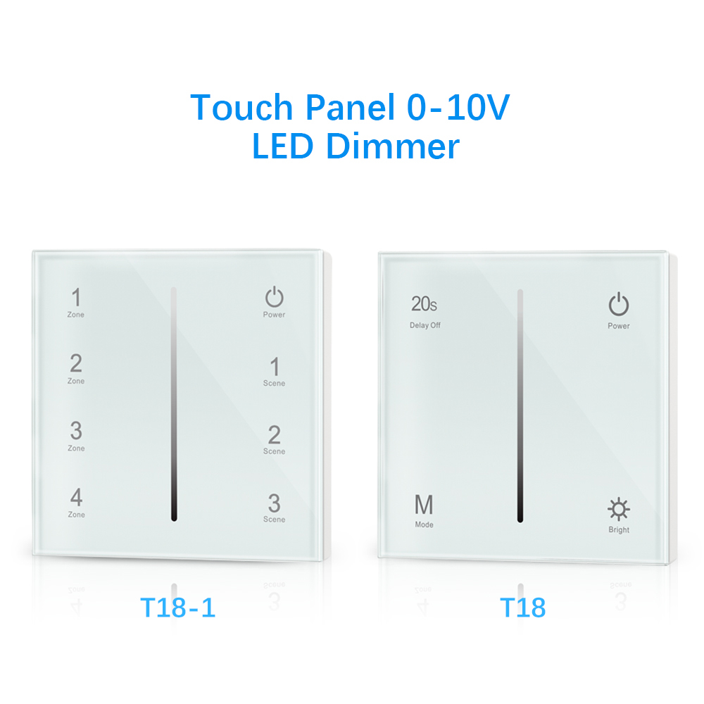 T18 T18-1 AC85-265V 1 Zone /4 Zones Touch Panel 0/1-10V LED Dimmer