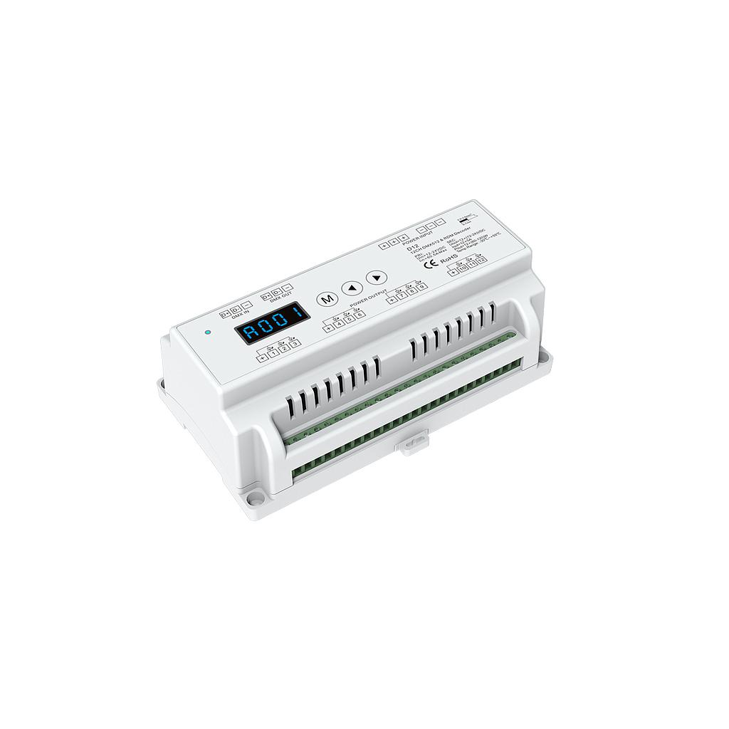 D12 DC5-24V 12 Channel PWM Constant Voltage DMX Decoder