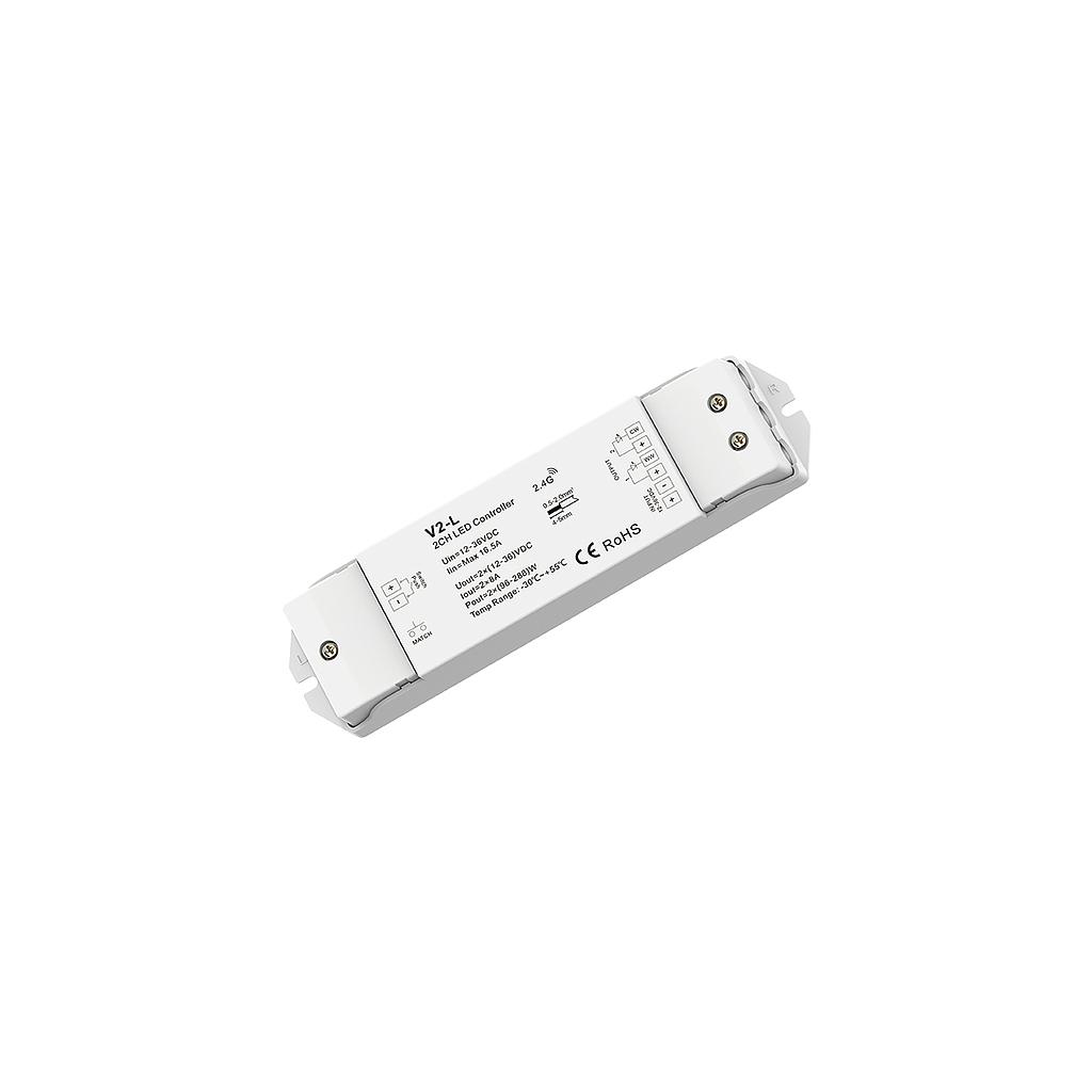 V2-L DC12-36V RF2.4G 2 Channel Single Color/Color Temperature Constant Voltage Controller