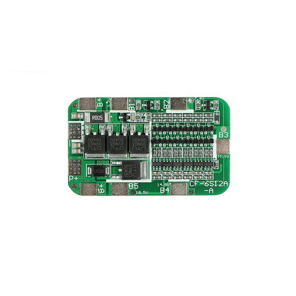 6 Series 22V BMS Protection Board for 18650 Lithium Battery Cell