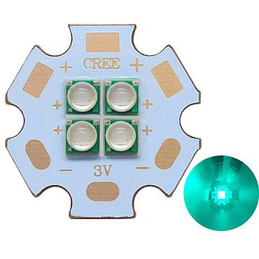 10W-12W 3V/6V/12V Epileds 3535 Cyan Color 490- 495nm 4LEDs Multi-Chip High Power LED Emitter with 20mm Copper PCB
