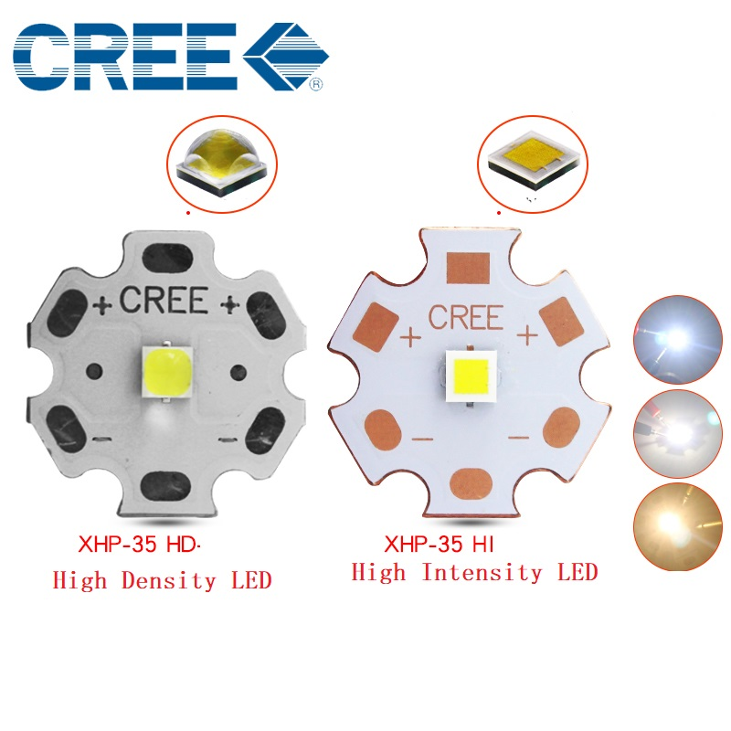 CREE XHP35 Cool White Neutral White Warm White LED Emitter 12V with 8-20mm Aluminum PCB