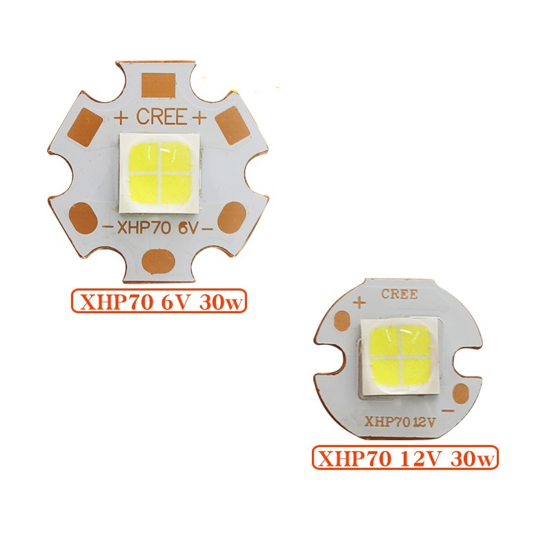 CREE XHP70 Cool White Neutral White Warm White LED Emitter 6V 12V with 16mm 20mm Copper PCB