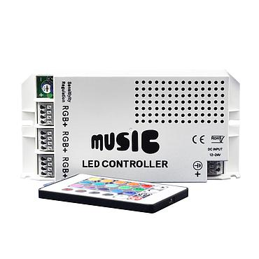 DC12-24V 3CH RGB SMD5050 Strip Light Music Rhythm Control Power Controller
