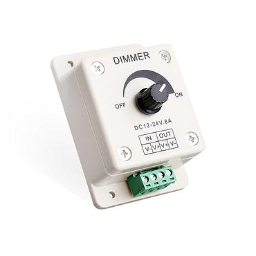 DC12-24V LED Strip Light Touch 1 Channel Dimmer Controller (Rotating)