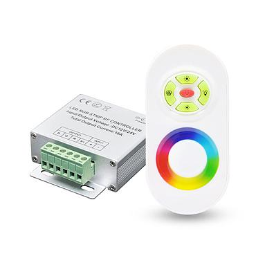 DC12-24V Wireless Silven Volor 433MHz RGB Controller with RF Remote for RGB LED Strip Rigid Light Bulb