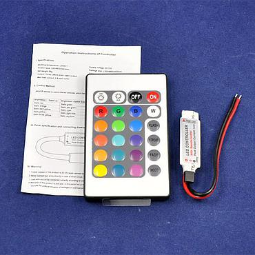DC12 2A/ Channel Mini LED RGB Controller with 24 Keys IR Remote Control