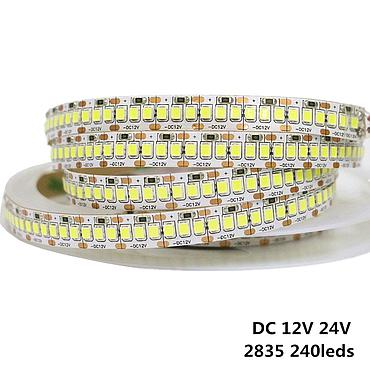 DC 12V/24V 2835 SMD Flexible High Bright LED Strip 140 /204 /168/240 LEDs/m