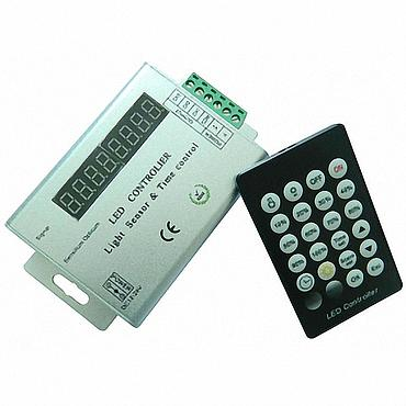 DC12V-24V Light sensor and time programmable led controller