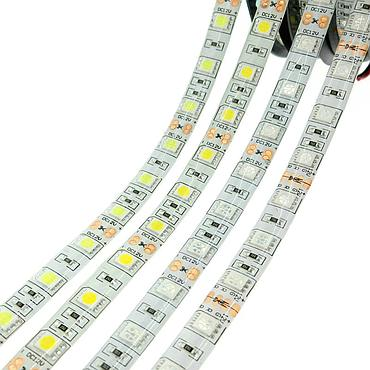 DC 12V 5050 SMD LED Flexible Strip 60LEDs/m Waterproof IP20/IP65 Emitting White/Warm white/Blue/Green/Red/RGBW