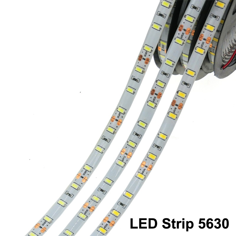 DC 12V 5630 SMD Flexible LED Strip 60LEDs/m Emitting White/Blue/Red/Warm White/Cold White/Green