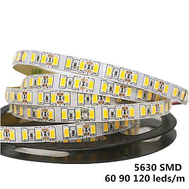 DC 12V 5630 SMD LED Flexible Strip 90 LEDs/m Waterproof IP20/IP65/IP67 Emitting White/Warm White/Red/Green/Blue