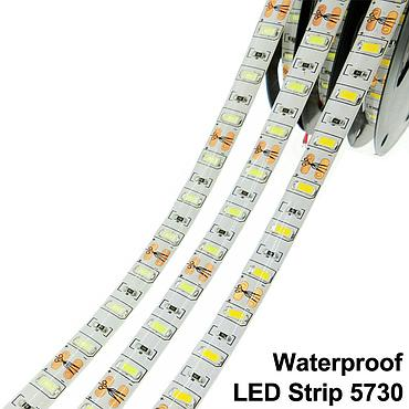 DC 12V 5730 SMD Flexible LED Strip 60LEDs/m Emitting White/Warm White/Cold White