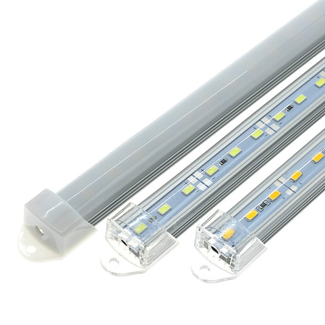 DC12V SMD 5730 Rigid LED Light Bars 50cm with U Aluminium Shell + PC Cover