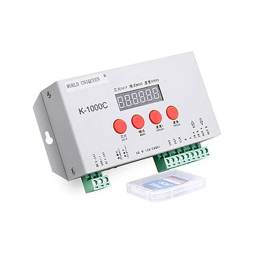 DC5V-24V SD Card LED 2048 Pixels Program Controller SPI Signal Output with Address Writing Function for WS2811, WS2812B, APA102