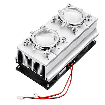 Dual 50W LED Heatsink Glass Lens Reflector Bracket 60/90/120 Degree 100W