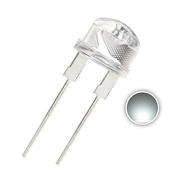 F8 8mm Straw Hat Transparent LED Diode Lights White/Red/Green/Blue/Yellow