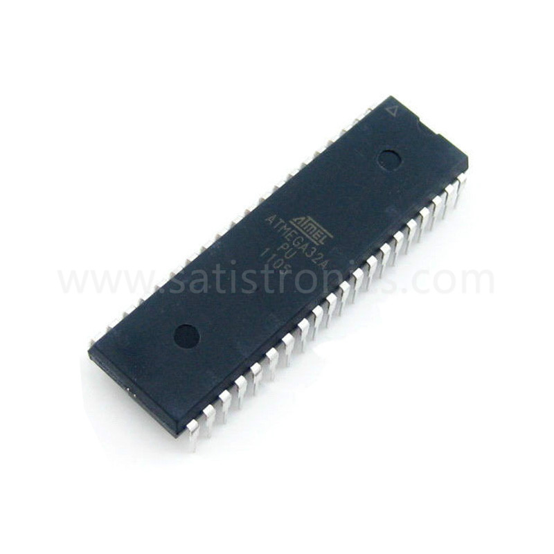 Microchip Chip ATMEGA32A-PU Microcontroller 8Bit MCU 32KB In-system Flash 2.7V