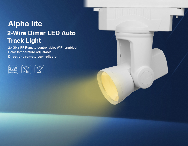 Mi.Light AL1/AL2/AL3/AL4/AL5/AL6 25W 2-wire/4-wire Dimmer/Dual White/RGBW 99 Groups LED Auto Track Light