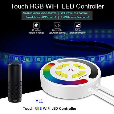 Milight YL1 Touch RGB WiFi LED Controller Alexa Voice App 2.4G