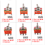 E-TEN 1021/1121/1122/1221/1321/1322 Toggle Switch 2/3Gear 2/3/4/6P